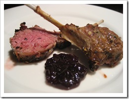 lamb and port sauce