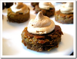 pumpkin marscapone treats