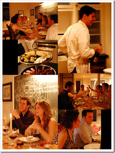 dinner party collage