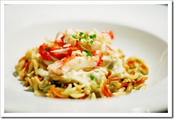 crab orzo and cheese