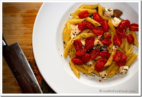 greek penne with tomato confit
