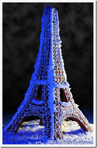 gingerbread eiffel tower stars and clouds