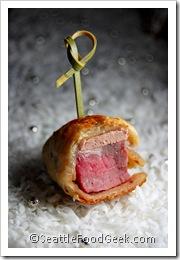 beef wellington hors d'ouvre
