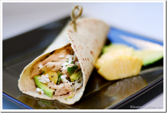 pineapple chicken wrap