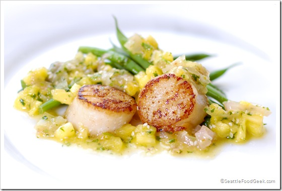 Seared Scallops with Tropical Salsa - Seattle Food Geek