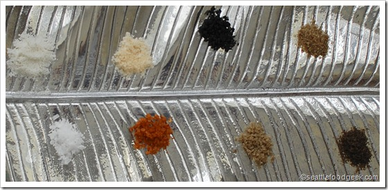 salts on a platter