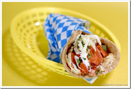 salmon soft taco