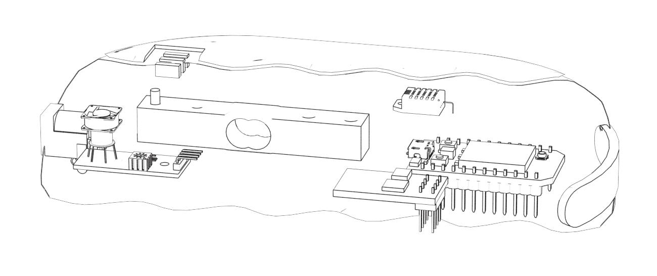 sensing base cutaway