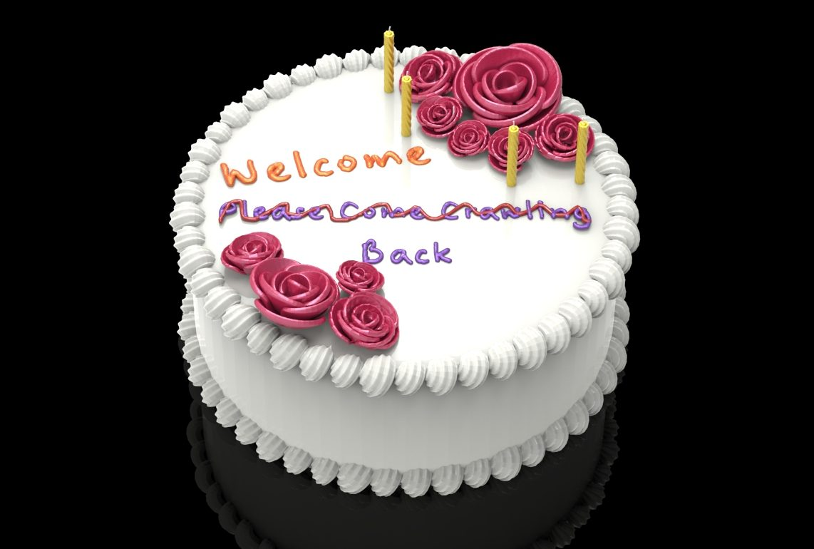welcome back cake.390
