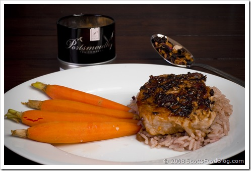 Pork Chop with Apricot Tea