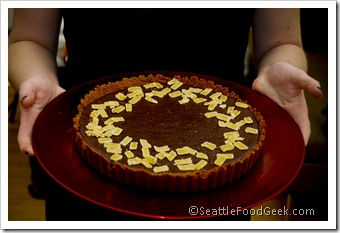 chocolate ginger tart