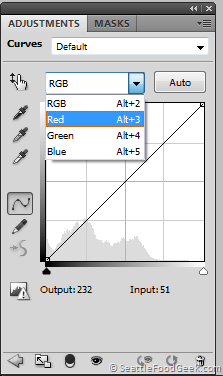 4 - Set curve to Red