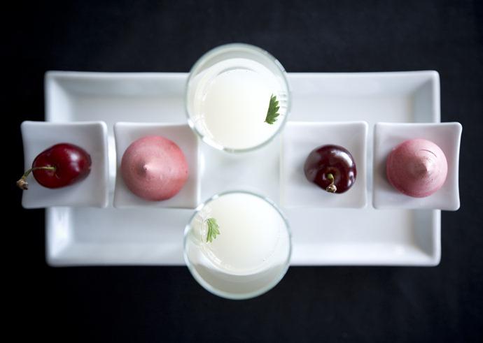 cherry and meringue
