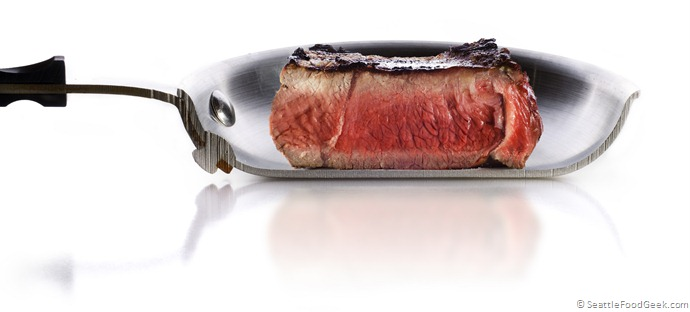 pan with steak